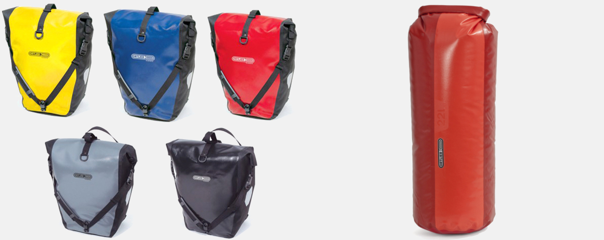 Ortlieb Back Roller Classic (links) und Ortlieb Packsack PD350 22l (rechts)